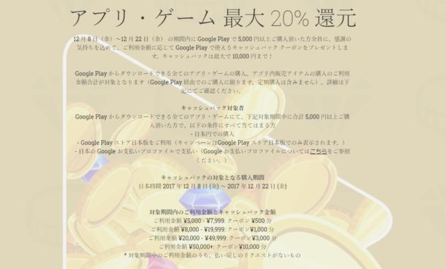 Googleプレイカードキャンペーン